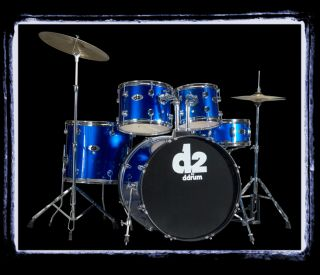 New Ddrum D2 Police Blue Complete Drum Kit with Cymbals