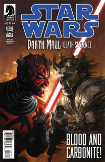 STAR WARS DARTH MAUL DEATH SENTENCE #3 (of 4) Dark Horse Comics