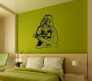 Lego Star Wars Dark Vader Wall Decor Art Vinyl Removable Mural Decal
