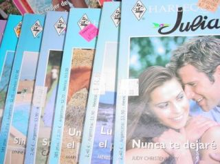 34 PB Book Lot Libros de Bosillo En Espanol Harlequin Julia Novela