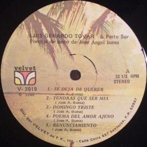 Luis Gerardo Tovar Poemas de Amor de Jose Angel Buesta