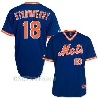 Darryl Strawberry New York Mets 1986 Cooperstown Royal Blue Jersey Sz