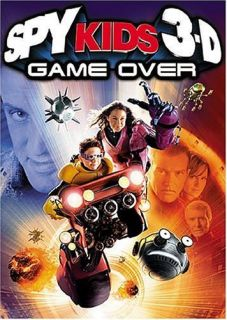 Spy Kids 3 Game Over (DVD, 2004, Includes both 2 D and 3 D Versions)