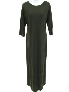 Sigrid Collection Brown Stretch Full Length Dress Sz L