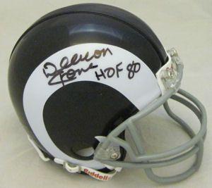 Deacon Jones Autographed Signed Los Angeles Rams Mini Helmet wHOF 80
