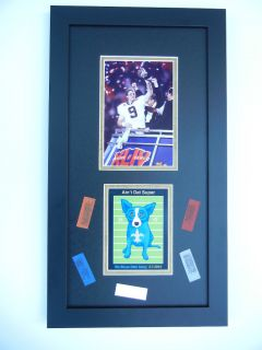 AinT DAT Super Postcard Frame George Rodrigue Blue Dog Drew Brees L K