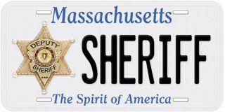 Deputy Sheriff Massachusetts Novelty Car License Plate