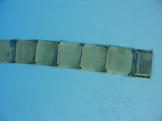 Art Deco Andreas Daub Brushed Gold Fill 8 Link Bracelet Quality 7