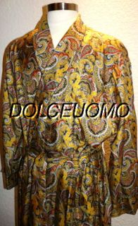 1200 Men Derek Rose L Large 100 Silk Dressing Gown Robe Savile Row D3