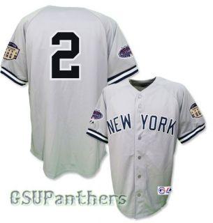 Derek Jeter 2008 New York Yankees All Star Grey Road Jersey Mens Sz M