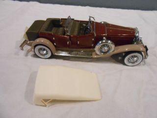 1930 Duesenberg J Derham Tourster Franklin Mint Diecast Car