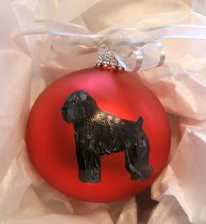 Black Russian Terrier Christmas Ornament Hand Painted