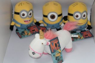 Despicable Me Figure Minions Jorge Dave Stewart Unicorn Plush Toy 4