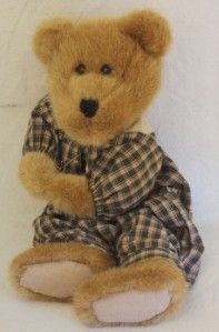 Hunter Bearsdale Boyds Bears Stuffed Plush Animal Romper Plaid Darling