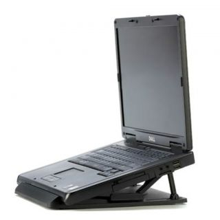 PORTABLE LAPTOP DESK STAND ACCESSORIES LAPTOP STAND ROTATING BASE NEW