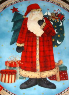 Debbie Mumm Whimsical Santa GIFTS FOR SANTA Folk Art Plate NICE