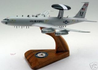 Boeing AWACS E 3 Wood Desktop Airplane Model