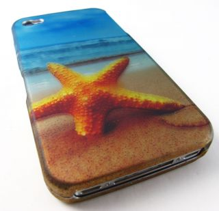 Ocean Star Fish Design Hard Shell Case Cover Apple iPhone 4 4S Phone