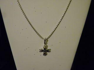 Premier Designs Deborah Cross Necklace Gold & Antiqued Silver