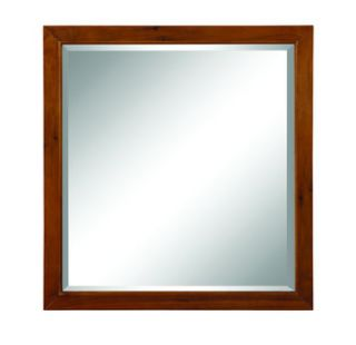 DecoLav 9714 MWN Medium Walnut Adrianna 30 Square Wall Mirror with