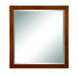 DecoLav 9714 MWN Medium Walnut Adrianna 30 Square Wall Mirror with