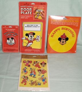 Mickey Mouse Hallmark Pins Decoration Stickers Wall Plate Plaque