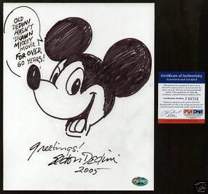 Eldon Dedini Signed Original Mickey Mouse Sketch PSA