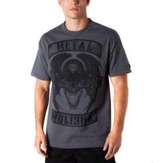 New 2012 Metal Mulisha Deegan Patches Tee Grey T Shirt Sale
