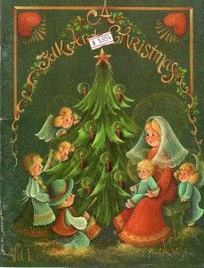 Jo Sonja Book FOLK ART CHRISTMAS Vol. 1 PATTERN Included Tole Painting