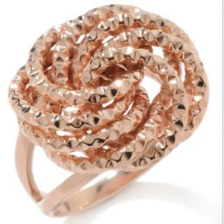 Technibond Rosetta Loveknot Ring Silver Rose Gold