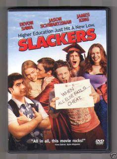 Slackers DVD 2002 Devon Sawa Jason Schwartzman James King 043396080843