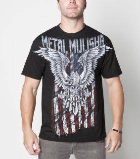 Mens Patriot s s Tee Shirt Black Medium Eagle Flag Brian Deegan