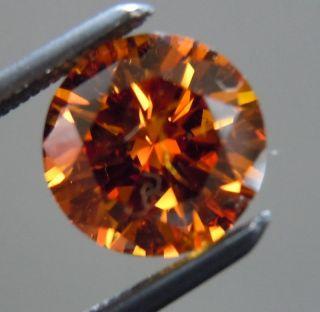 19ct Fancy Deep Brownish Orange Floral Diamond Ring Diamonds by