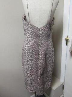 Rachael Roy Leopard Print Cocktail Dress 14 Mauve $595