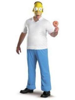 MENS SIZE XL HOMER SIMPSON COSTUME NWT JUMPSUIT, BELLY PAD, VINYL HALF
