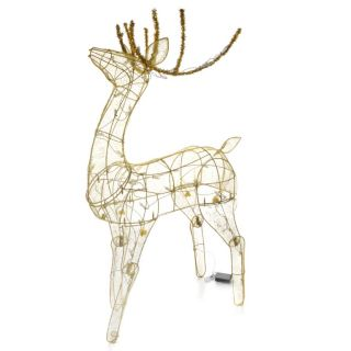 Winter Lane Solar Powered LED 48 Holiday Deer Decoration for Yard New