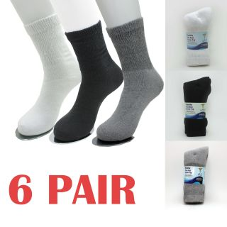 12 Pair Diabetic Circulatory Socks Health Loose Fit Crew Cotton