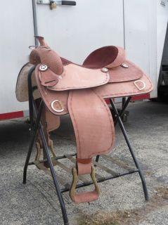 Western Training Leather Saddle 16 Royal with Training Dees