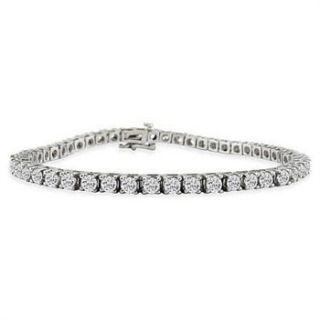 Carat Total Weight Natural Diamond Tennis Bracelet 9 grams 14k