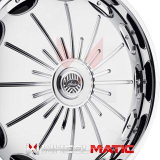 Set of 4 New Davin Spinners Surge 26x10 5x120/127 +10 Wheels Rims