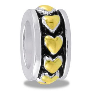 davinci small heart two tone bead