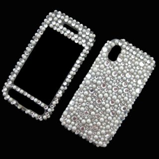 Front Back Bling Diamond Rhinestone Case Cover for Samsung Tocco Lite