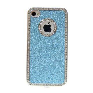 Luxury Bling Diamond Rhinestone Aluminium Case Cover for iPhone 4 4S
