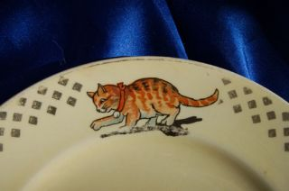 plate Edwin Knowles USA 1935 wire fox terrier dog Cat goat chick