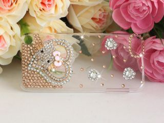3D DIY Handmade Hello Kitty Bling Diamond Hard Case for Apple iPod