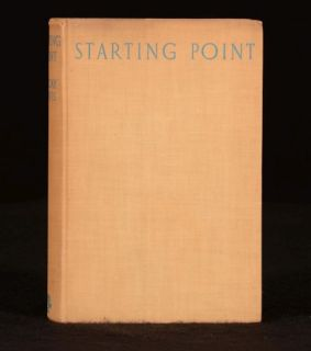 1937 Starting Point by C Day Lewis Signed Copy First Edition