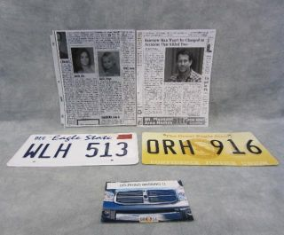 Desperate Housewives Mike Delfino Dash Fatal Car Accident Prop Set