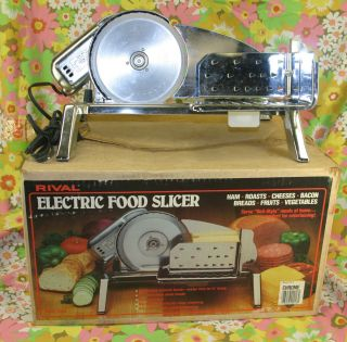 DELI STYLE Vintage Chrome RIVAL Electric Food Slicer Model 1101E BULK