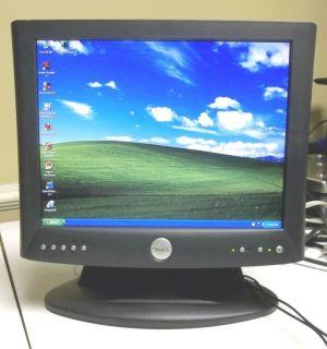 Dell 1503FP 15 Flat Screen LCD Desktop Computer Monitor DVI VGA