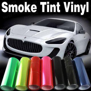 12x24 12x48 Smoked Fog Light Headlight Tint Vinyl Film Wrap Sheet